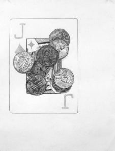 Playing Cards & Pennies: Surface Detail (Gabrielle)